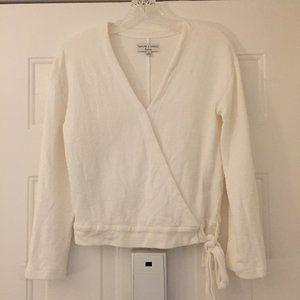 Madewell Texture & Thread long sleeve white top